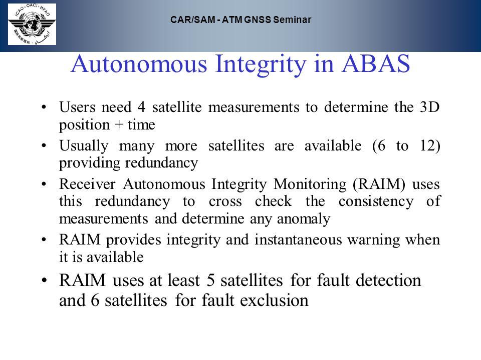 Autonomous Integrity in ABAS