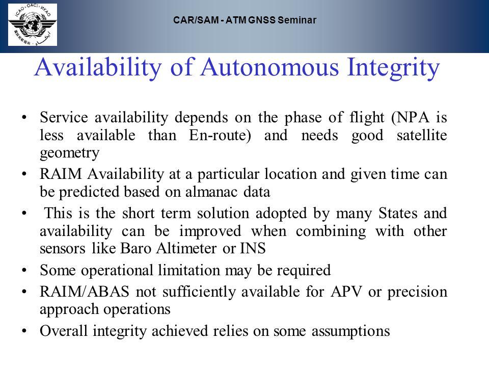 Availability of Autonomous Integrity