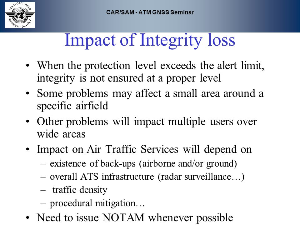 Impact of Integrity loss