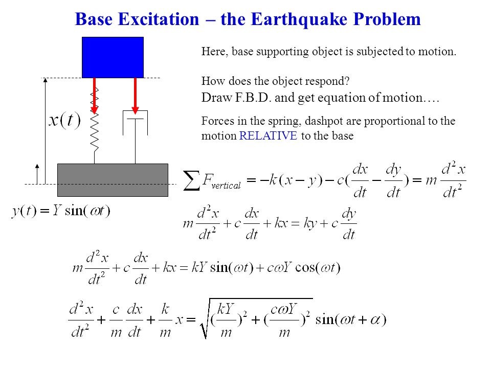 Base Excitation – the Earthquake Problem