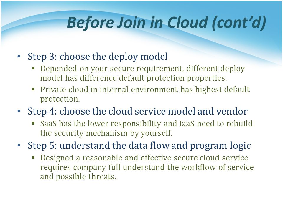 Before Join in Cloud (cont'd)