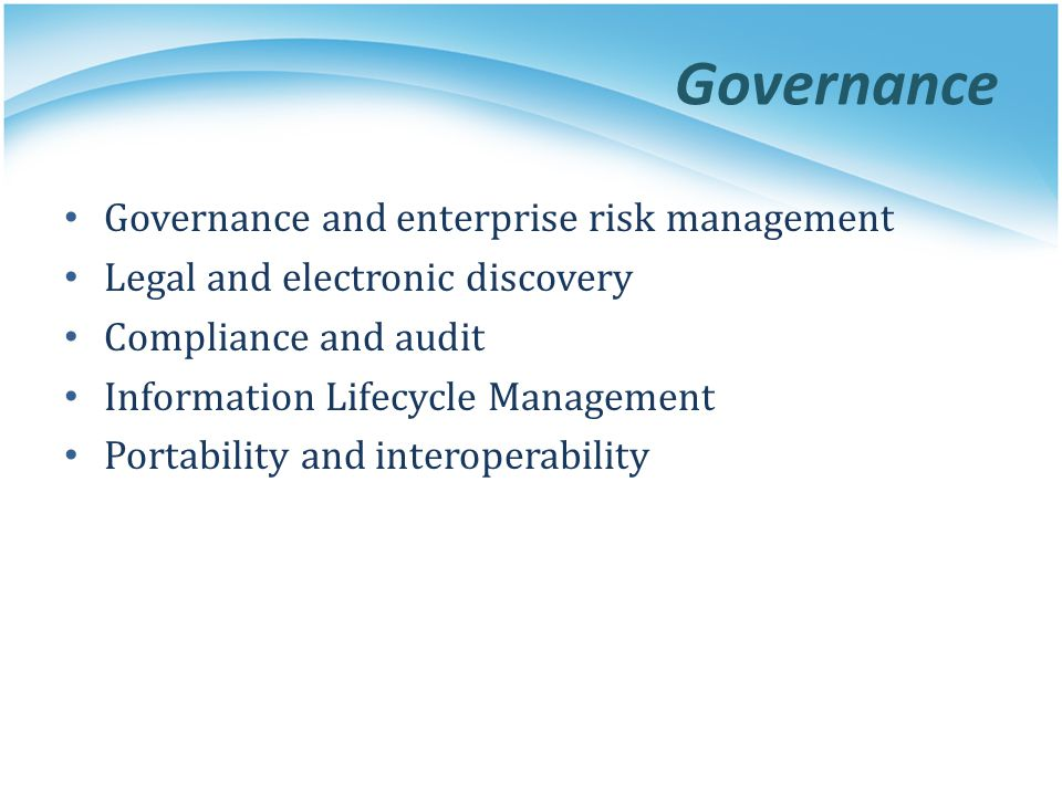 Governance Governance and enterprise risk management