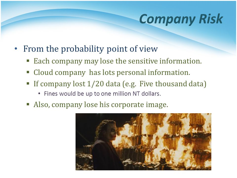 Company Risk From the probability point of view