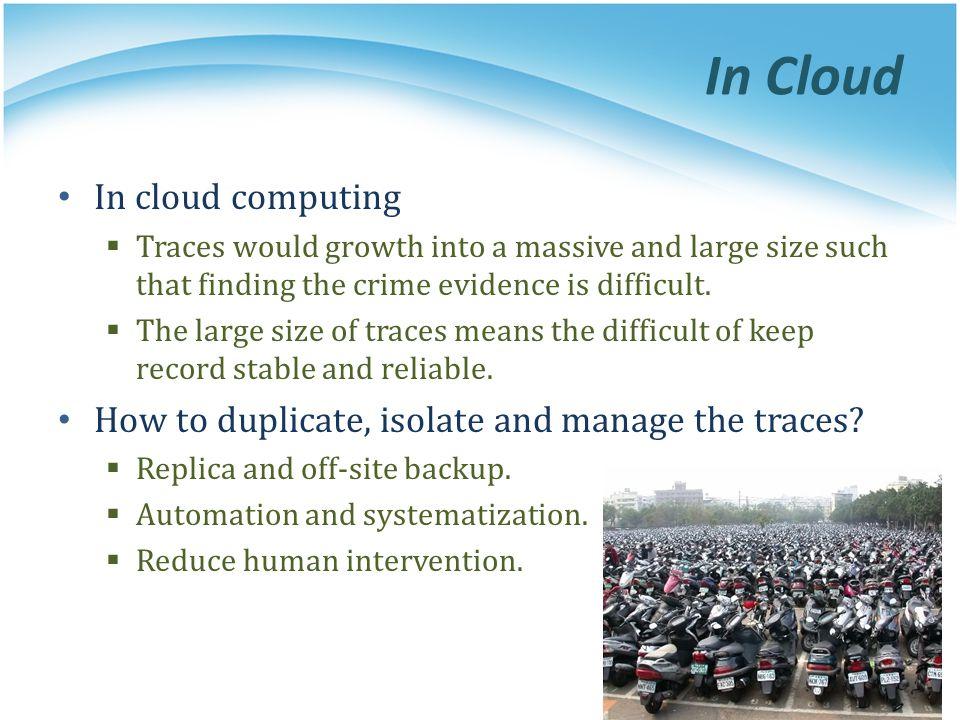 In Cloud In cloud computing
