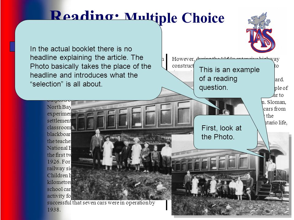 Reading: Multiple Choice