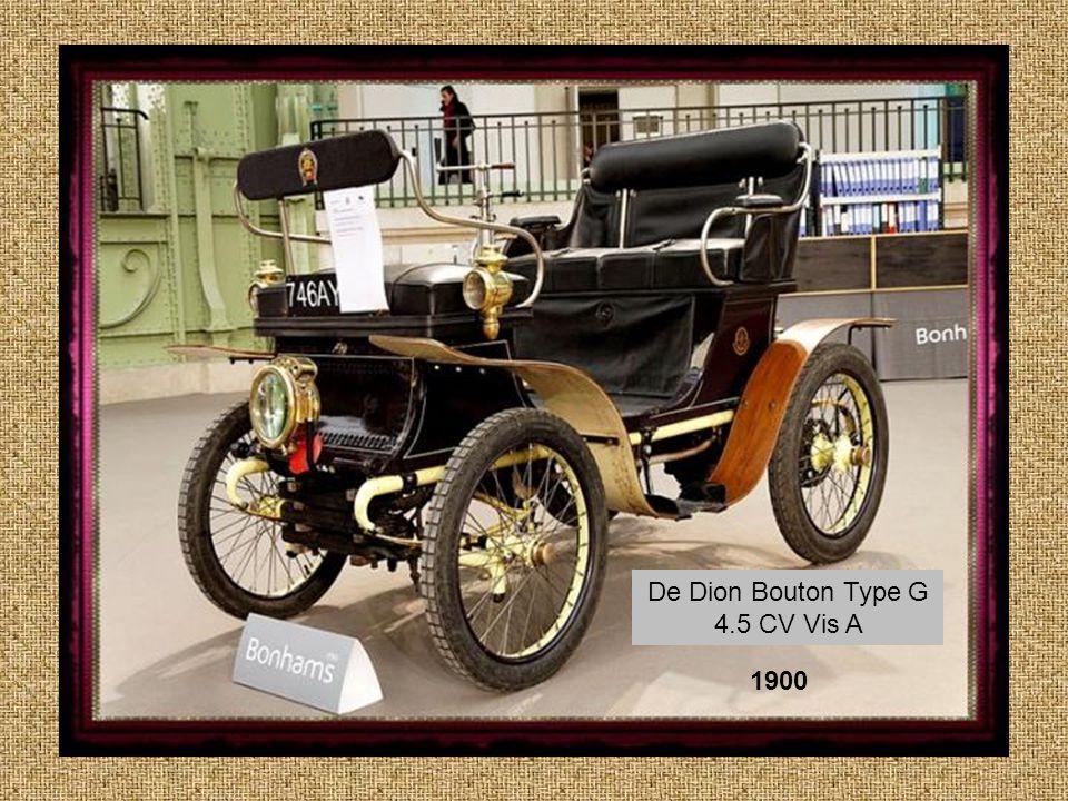 De Dion Bouton Type G 4.5 CV Vis A