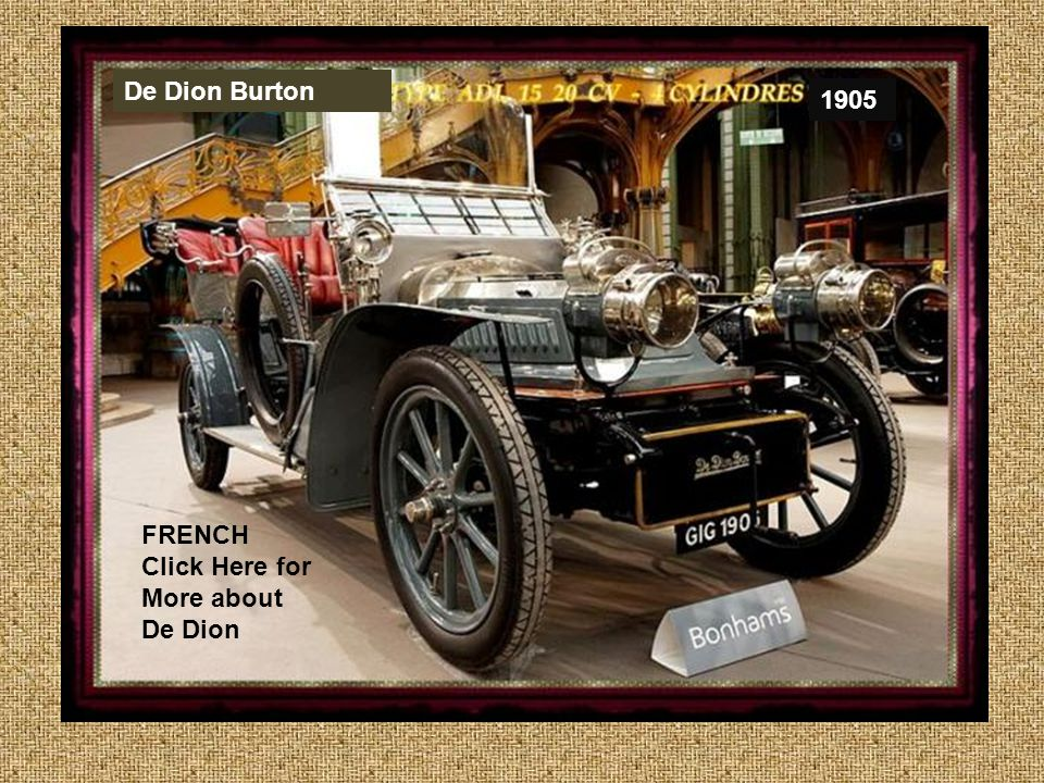 De Dion Burton 1905 FRENCH Click Here for More about De Dion