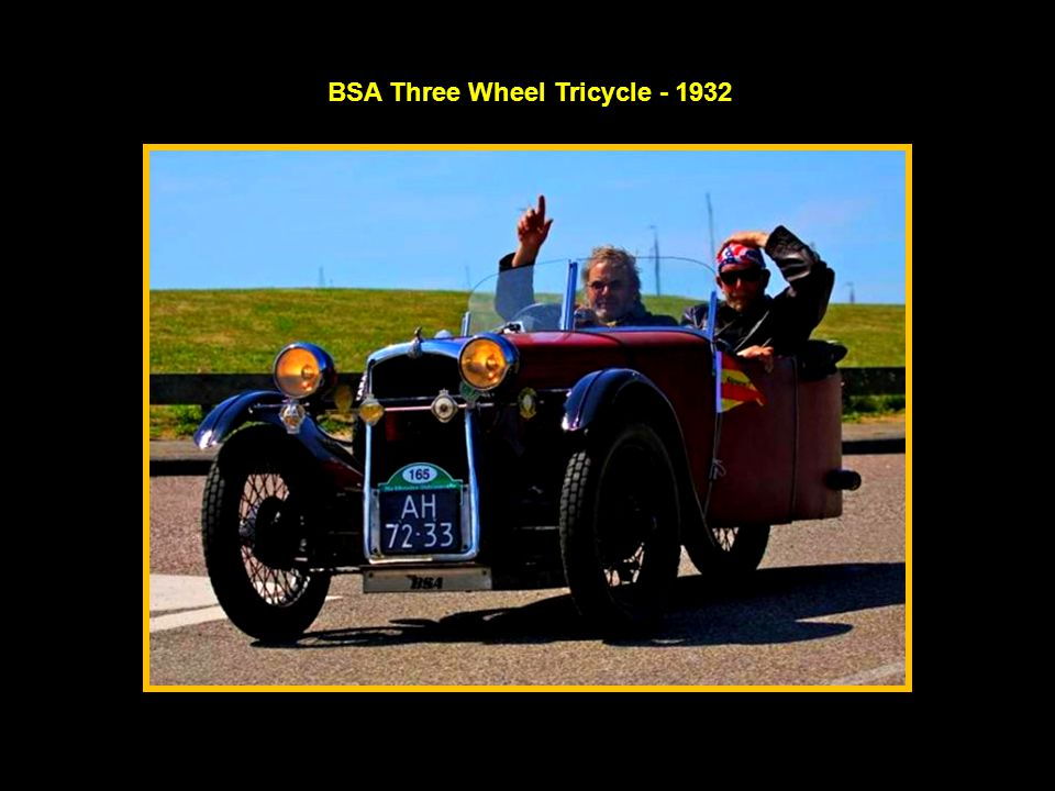 BSA Three Wheel Tricycle - 1932