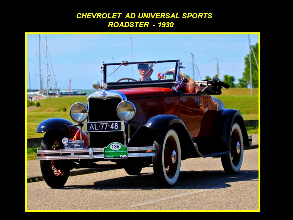C CHEVROLET AD UNIVERSAL SPORTS ROADSTER - 1930