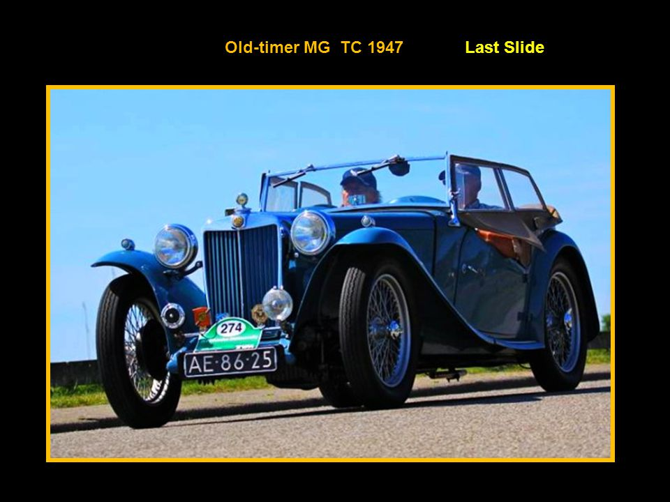 Old-timer MG TC 1947 Last Slide