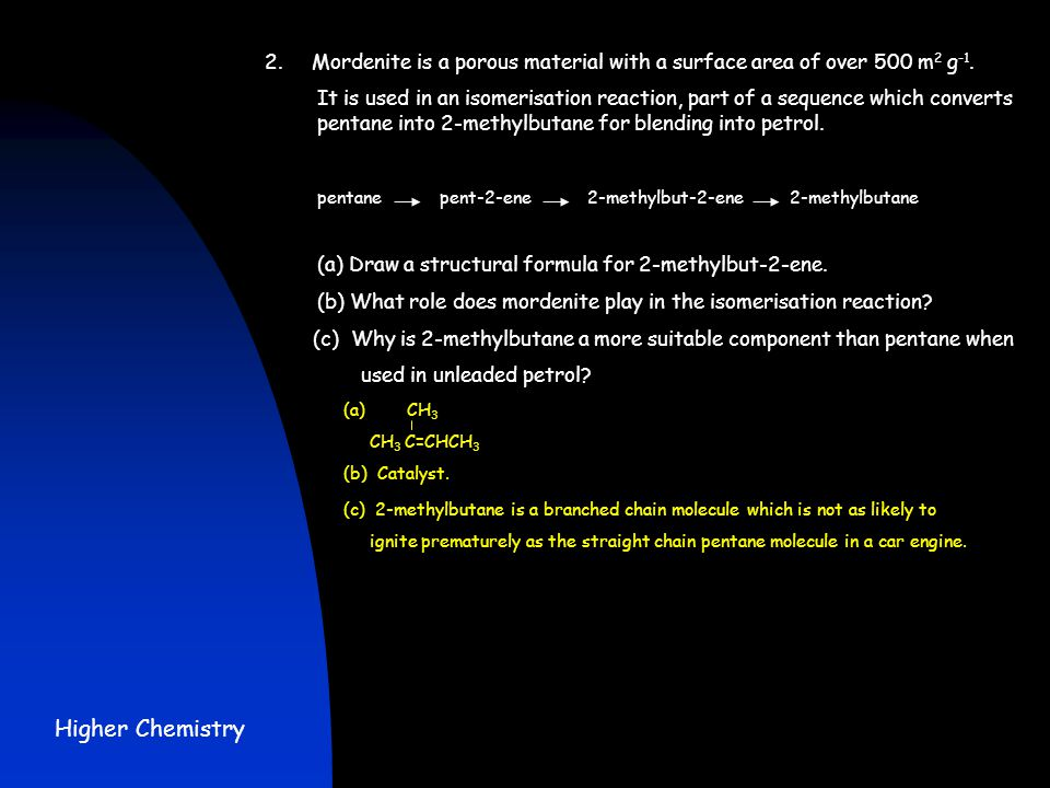 2. Mordenite is a porous material with a surface area of over 500 m2 g-1.