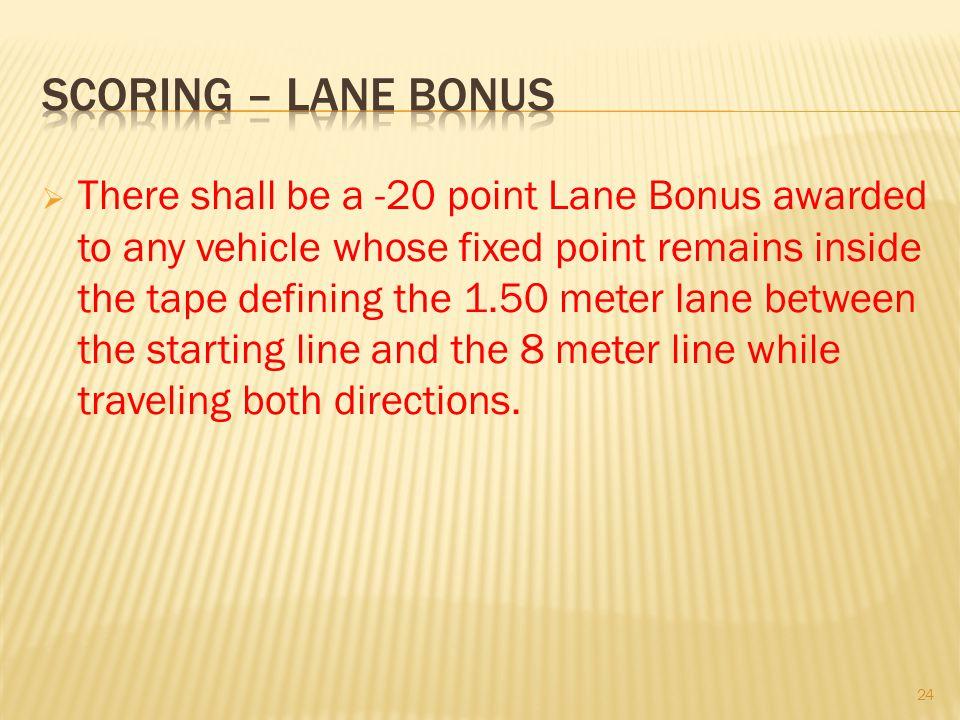 Scoring – lane bonus