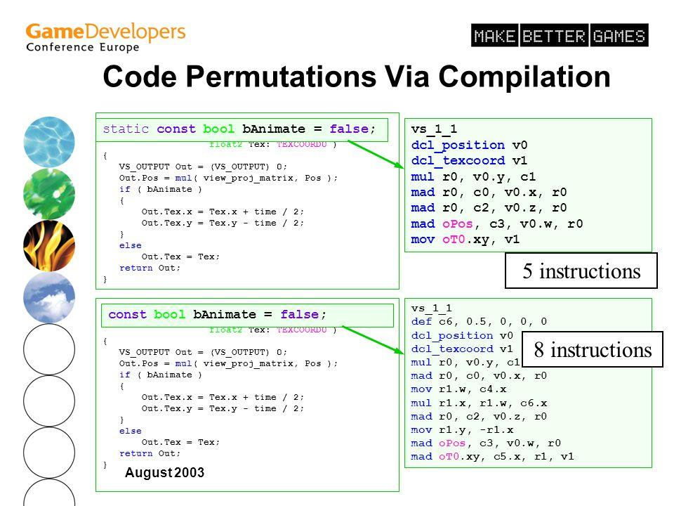 Code Permutations Via Compilation
