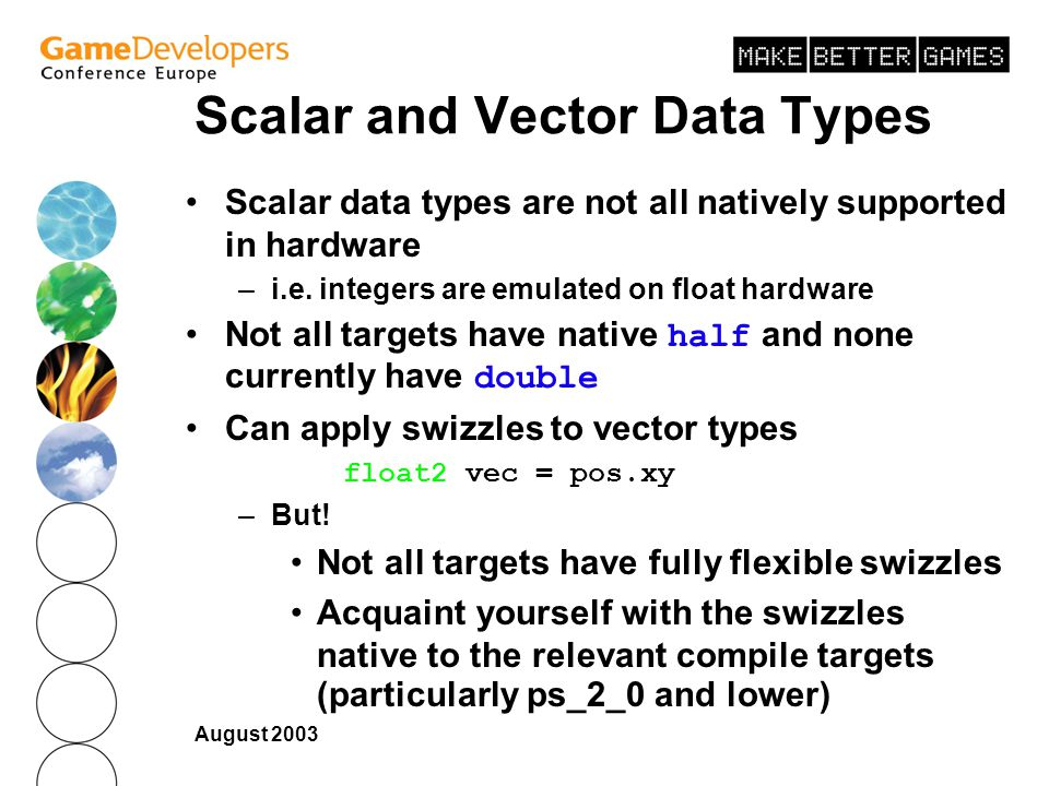 Scalar and Vector Data Types