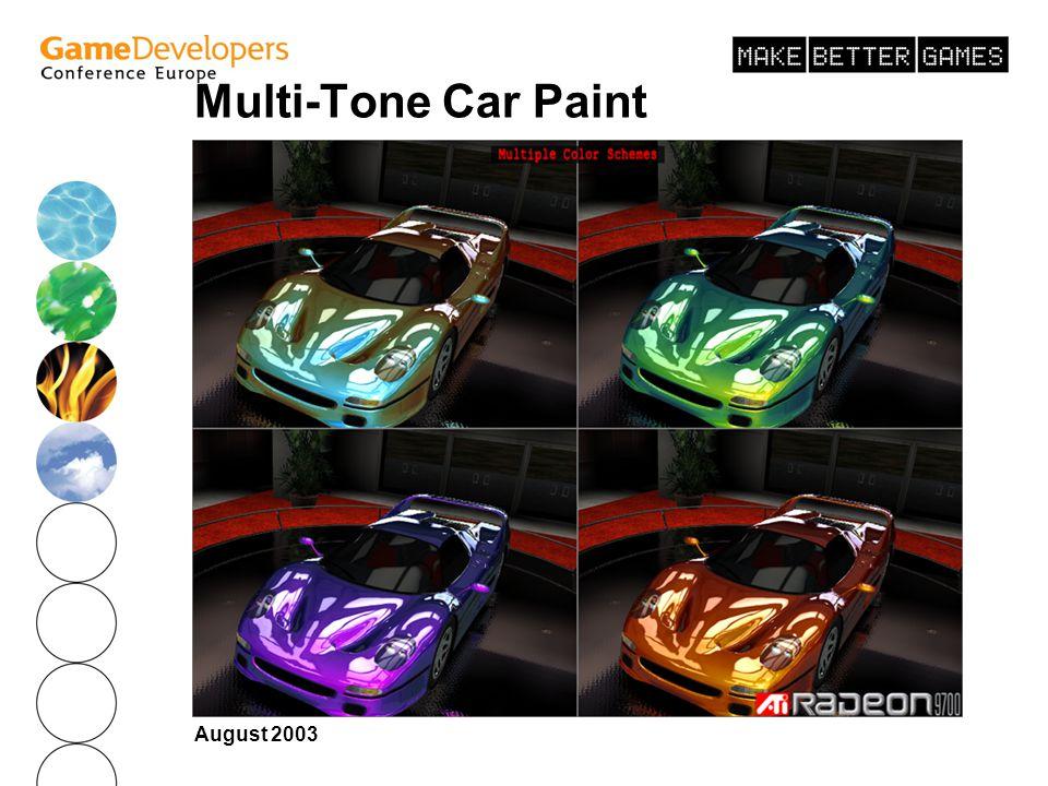 Multi-Tone Car Paint August 2003