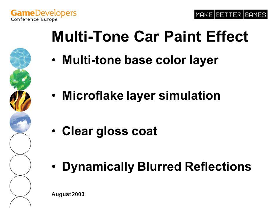 Multi-Tone Car Paint Effect