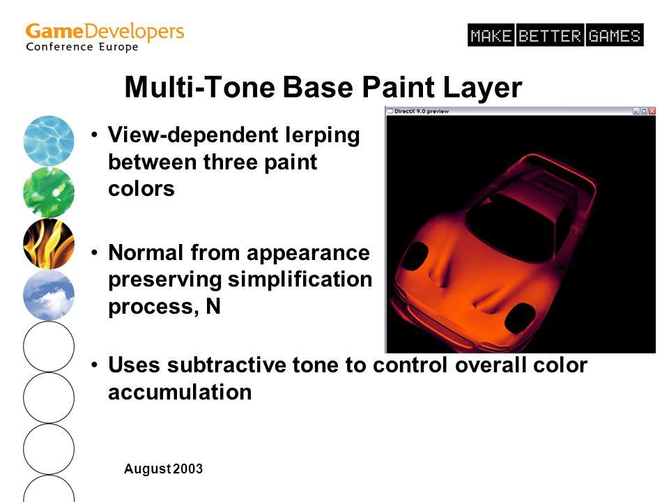 Multi-Tone Base Paint Layer