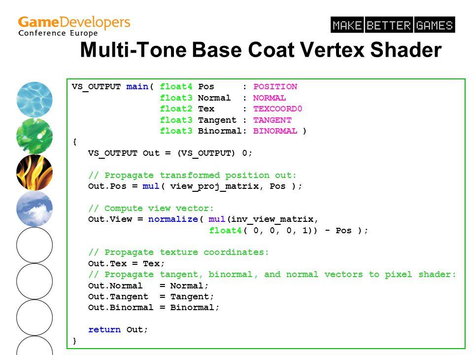 Multi-Tone Base Coat Vertex Shader