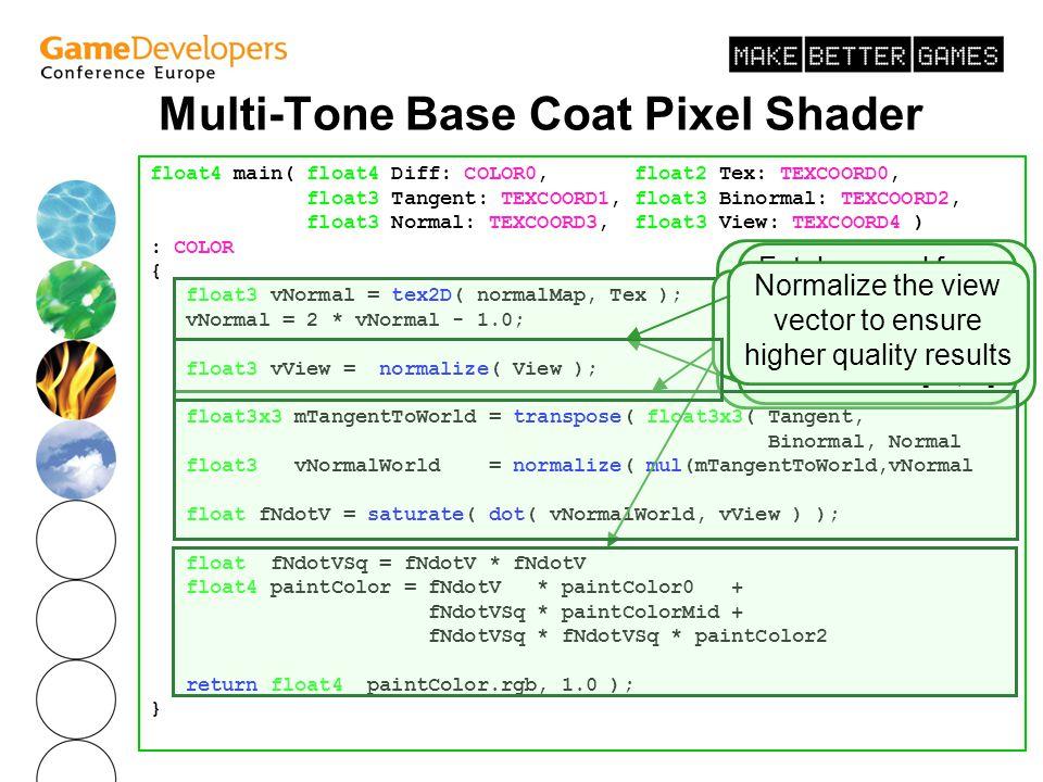 Multi-Tone Base Coat Pixel Shader