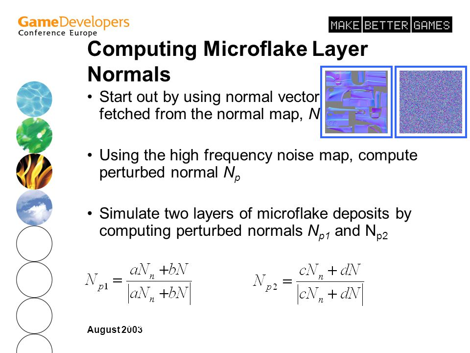 Computing Microflake Layer Normals