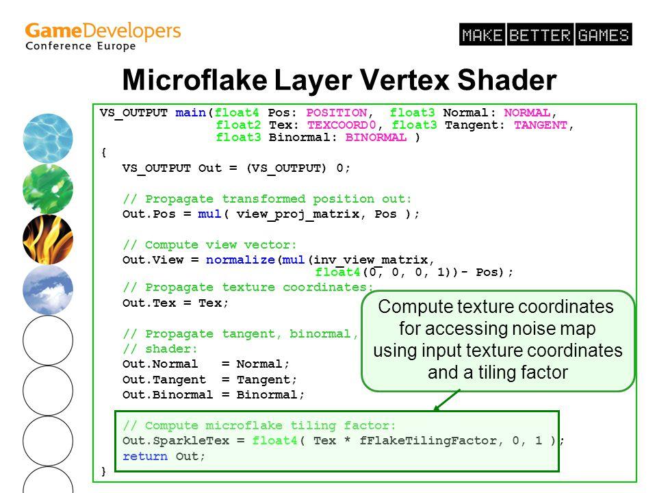 Microflake Layer Vertex Shader