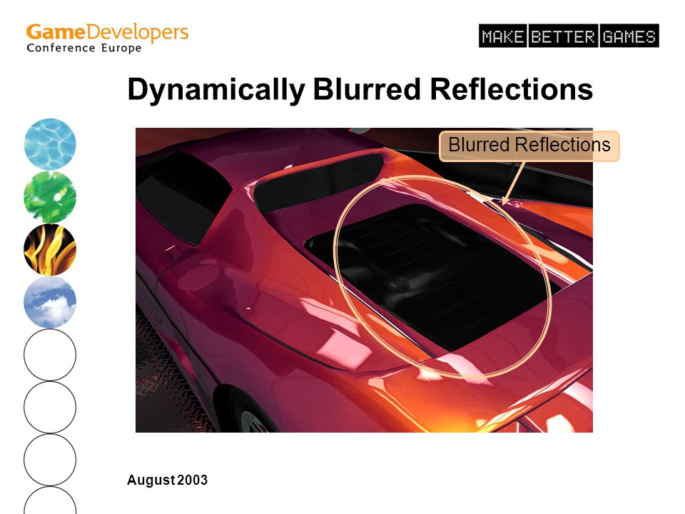 Dynamically Blurred Reflections