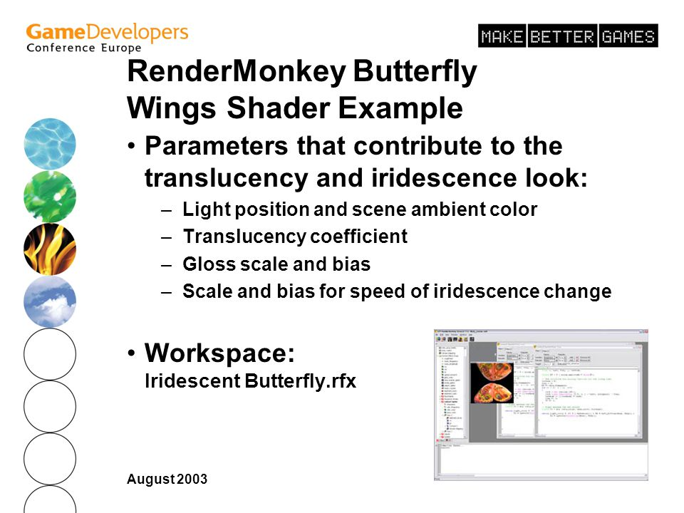 RenderMonkey Butterfly Wings Shader Example