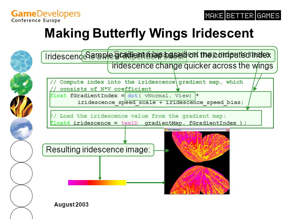 Making Butterfly Wings Iridescent