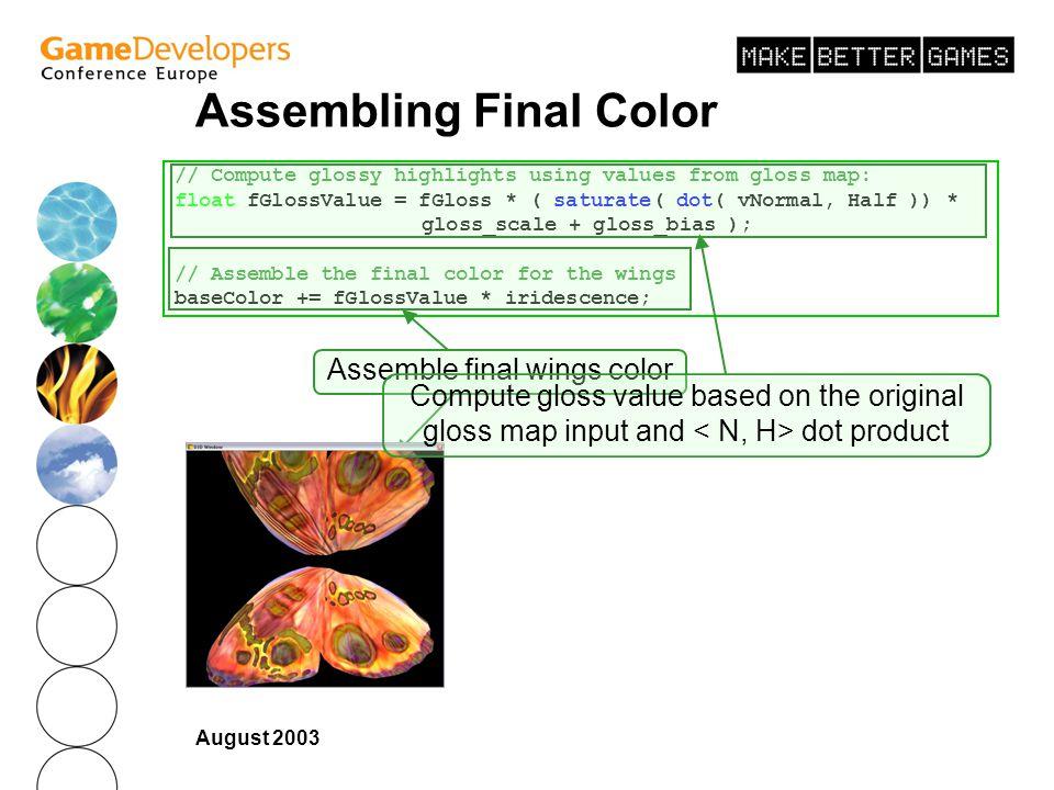 Assembling Final Color