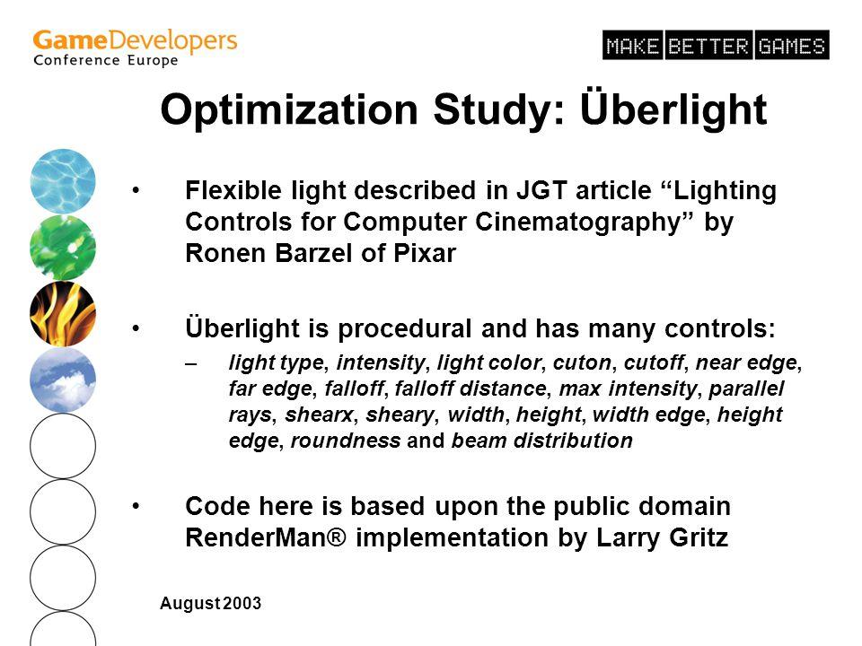 Optimization Study: Überlight