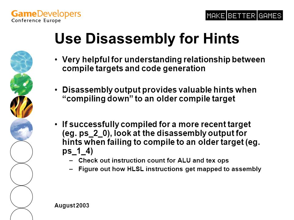 Use Disassembly for Hints