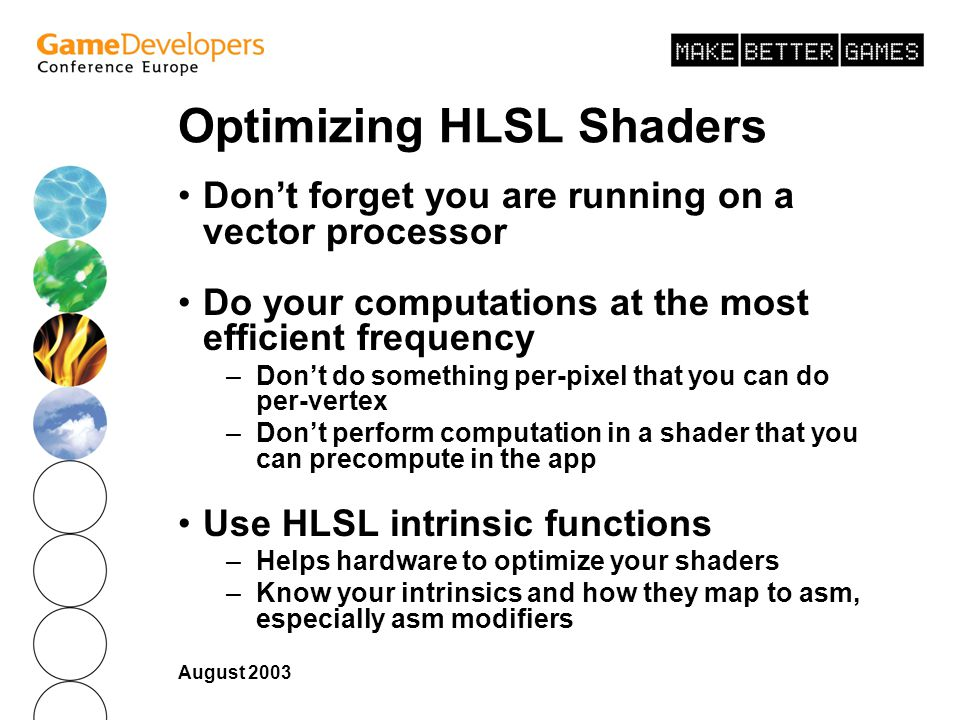 Optimizing HLSL Shaders