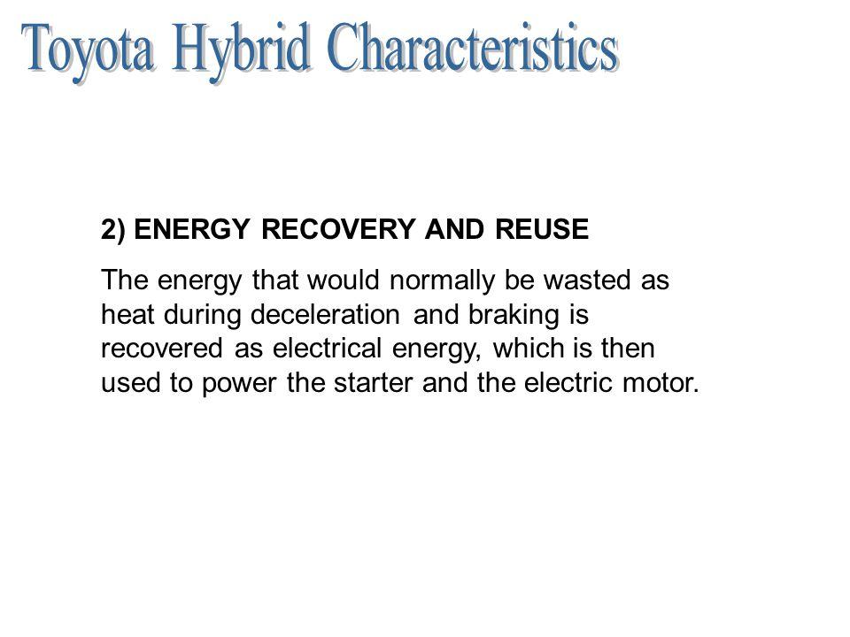 Toyota Hybrid Characteristics