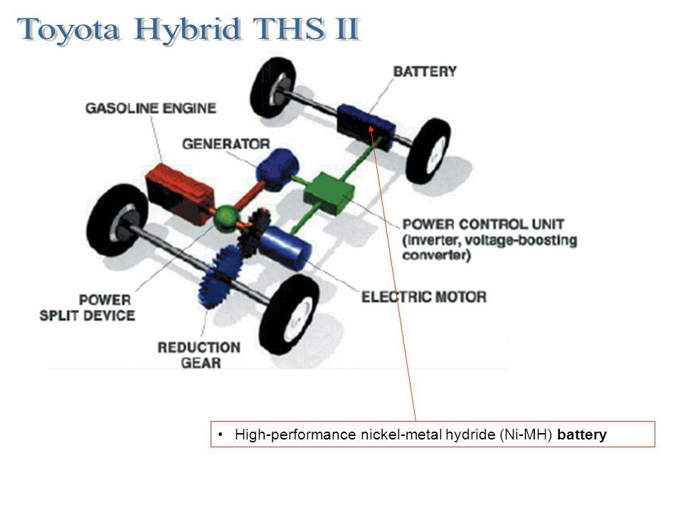Toyota Hybrid THS II High-performance nickel-metal hydride (Ni-MH) battery