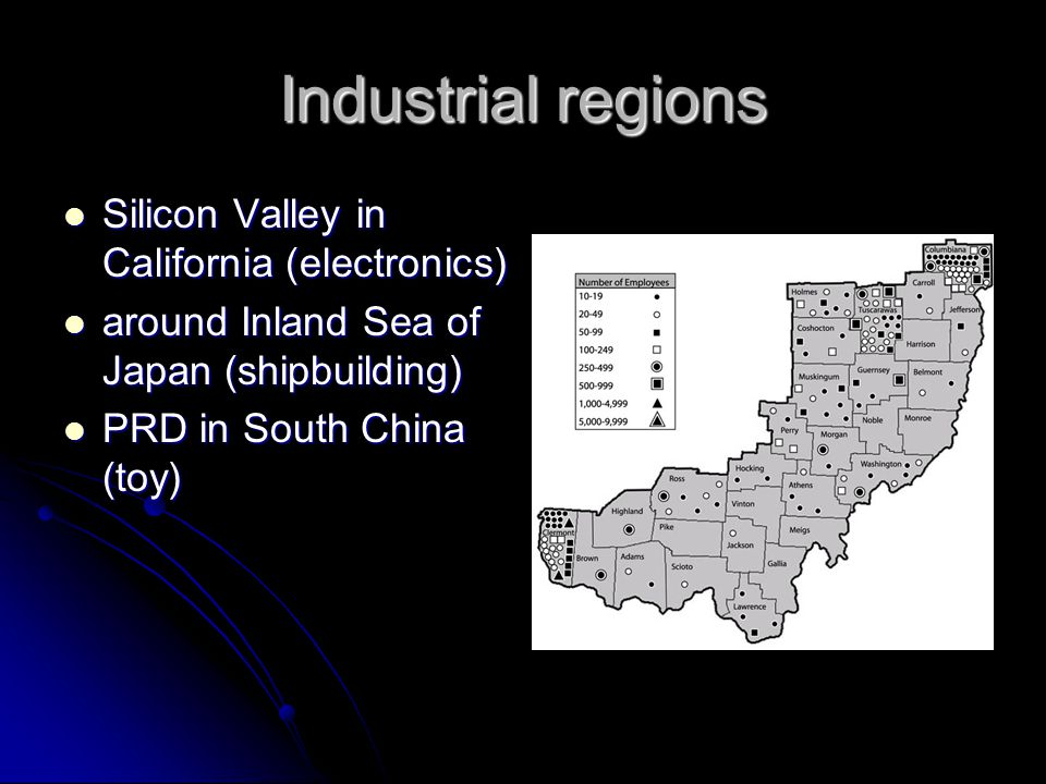 Industrial regions Silicon Valley in California (electronics)