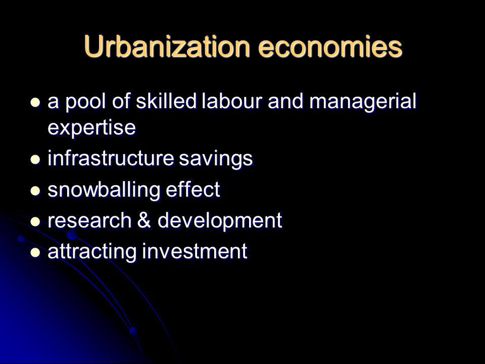 Urbanization economies