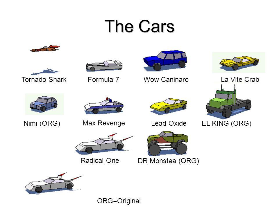 The Cars Tornado Shark Formula 7 Wow Caninaro La Vite Crab Nimi (ORG)