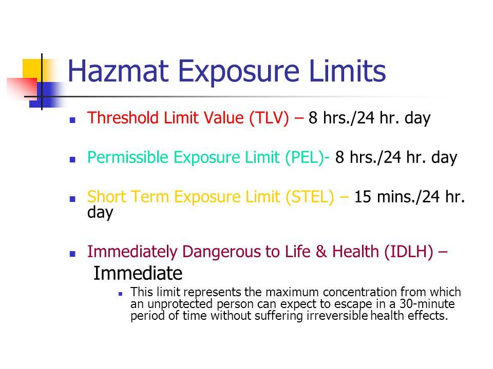 Hazmat Exposure Limits