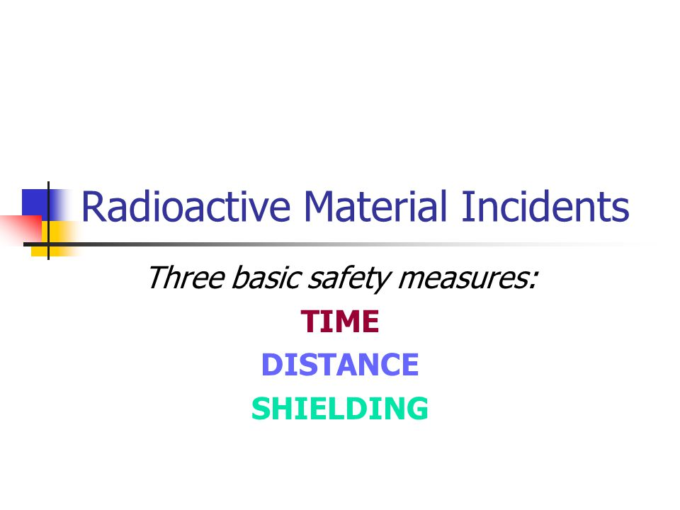 Radioactive Material Incidents