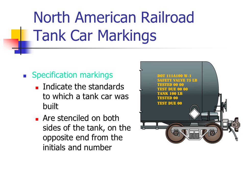 North American Railroad Tank Car Markings