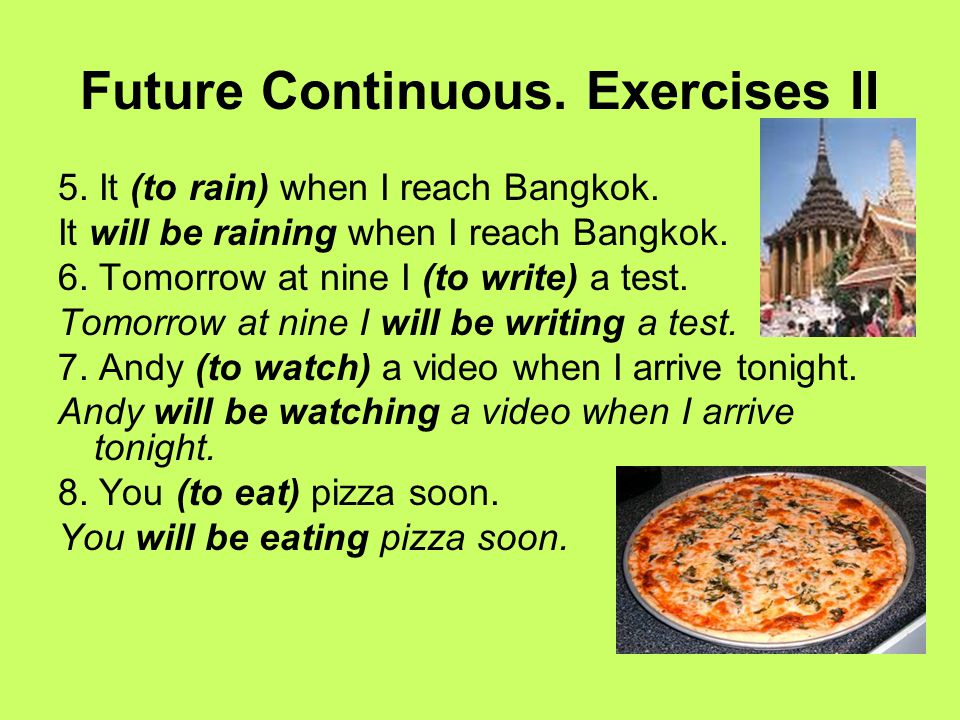 Future Continuous. Exercises II