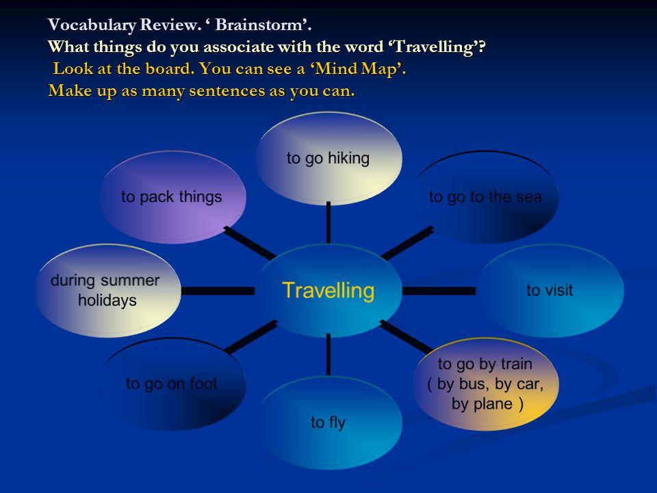 Vocabulary Review. ' Brainstorm'