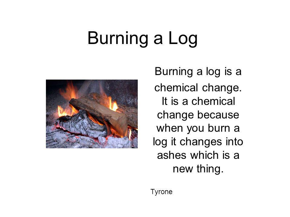 Burning a Log Burning a log is a