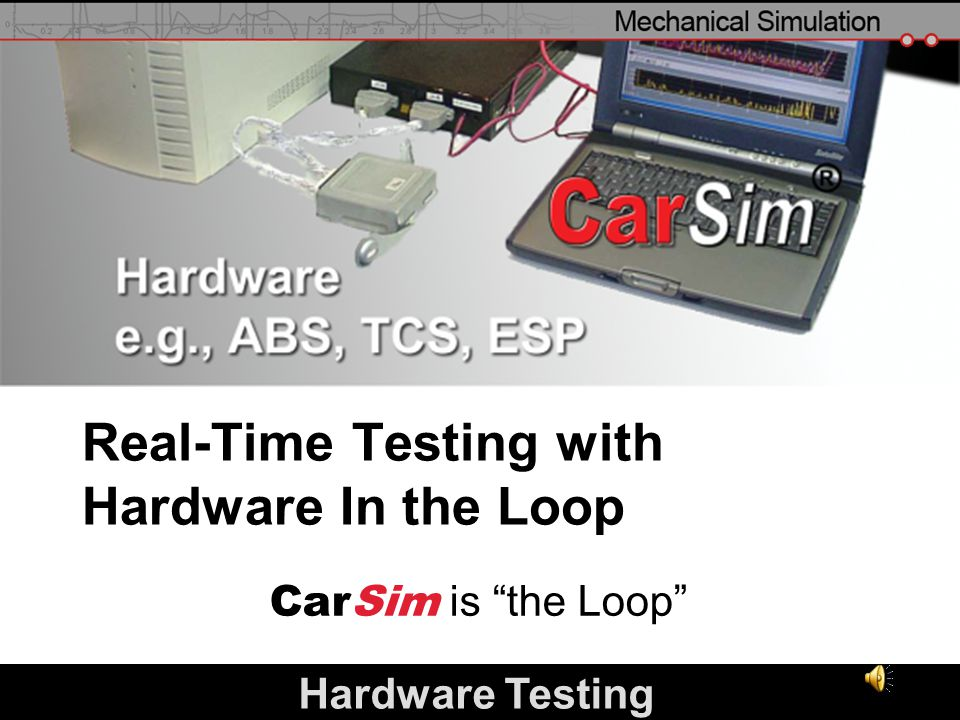 Real-Time Testing with Hardware In the Loop