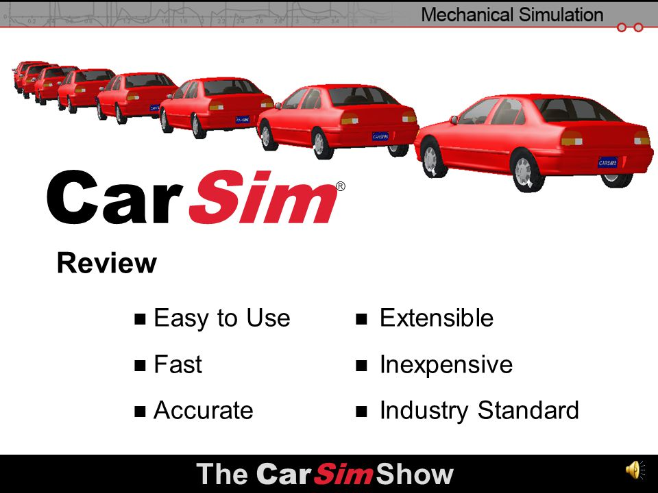 CarSim Review The CarSim Show Easy to Use Fast Accurate Extensible