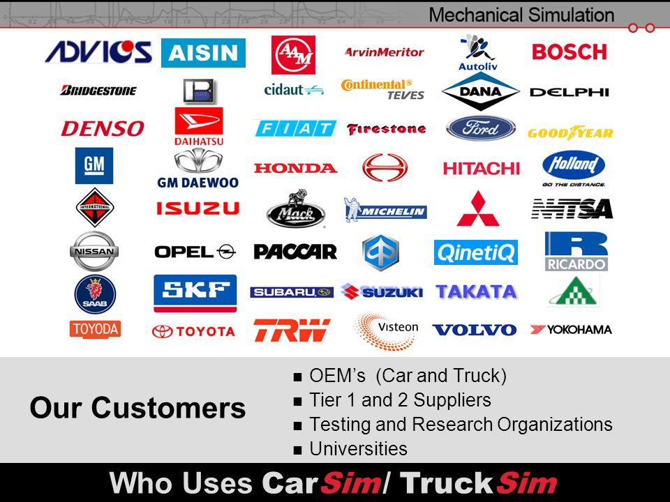 Who Uses CarSim / TruckSim