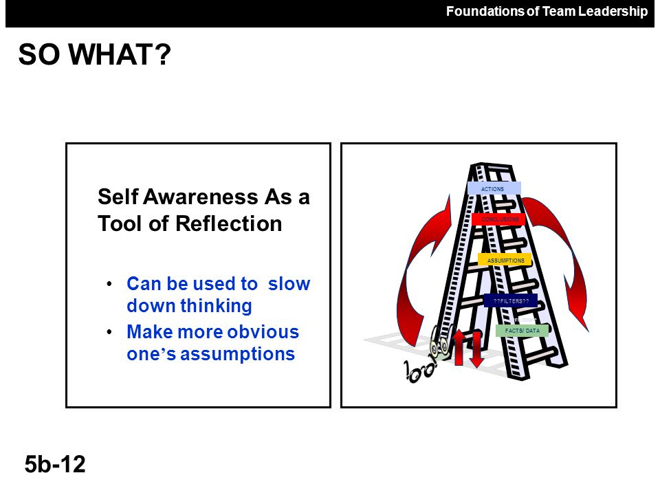 SO WHAT Self Awareness As a Tool of Reflection