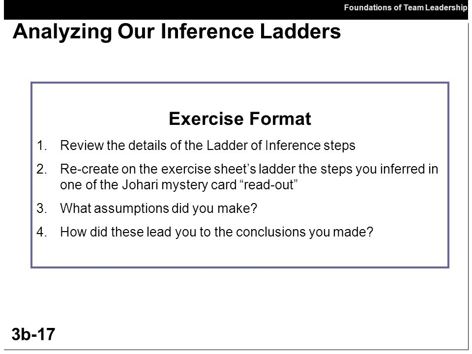 Analyzing Our Inference Ladders