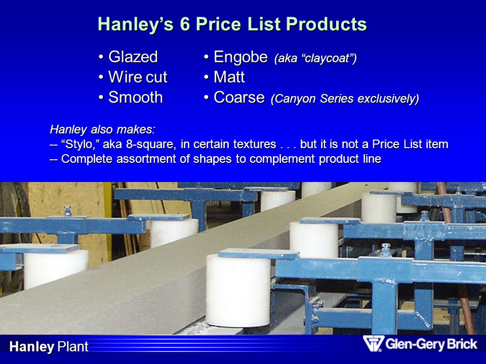 Hanley's 6 Price List Products