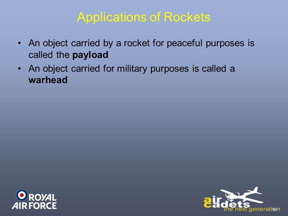 Applications of Rockets